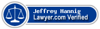 Jeffrey R. Hannig  Lawyer Badge