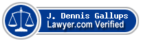J. Dennis Gallups  Lawyer Badge