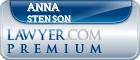 Anna Marie Emma Stenson  Lawyer Badge