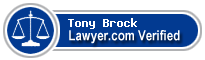 Tony J. Brock  Lawyer Badge