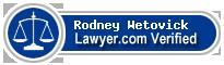Rodney M. Wetovick  Lawyer Badge