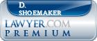 D. Charles Shoemaker  Lawyer Badge