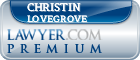 Christin Pauline Lovegrove  Lawyer Badge