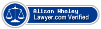 Alison A. Wholey  Lawyer Badge
