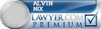 Alvin E. Nix  Lawyer Badge