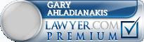Gary Ahladianakis  Lawyer Badge