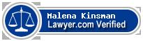 Malena Kinsman  Lawyer Badge