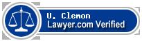 U. W. Clemon  Lawyer Badge