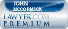John Mccormick  Lawyer Badge