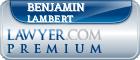 Benjamin Lambert  Lawyer Badge