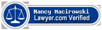 Nancy Macirowski  Lawyer Badge