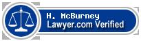 H. Edward McBurney  Lawyer Badge