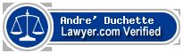 Andre' G. Duchette  Lawyer Badge