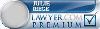 Julie A. Riege  Lawyer Badge