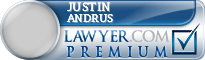 Justin W. Andrus  Lawyer Badge