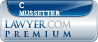 C David Mussetter  Lawyer Badge