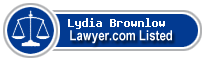 Lydia Brownlow Lawyer Badge