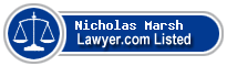 Nicholas Marsh Lawyer Badge