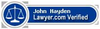 John Charles Hayden  Lawyer Badge