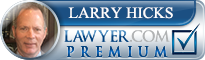 Larry Hicks  Lawyer Badge