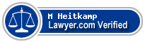 M K Heidi Heitkamp  Lawyer Badge