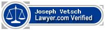 Joseph Robert Vetsch  Lawyer Badge