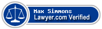 Max Simmons  Lawyer Badge