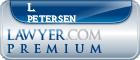 L. W. Petersen  Lawyer Badge