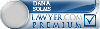 Dana C. Solms  Lawyer Badge