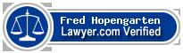 Fred Hopengarten  Lawyer Badge