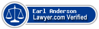 Earl W. Anderson  Lawyer Badge
