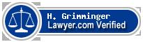 H. Samuel Grimminger  Lawyer Badge