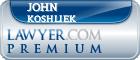 John Mark Koshliek  Lawyer Badge