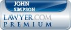 John P. Simpson  Lawyer Badge