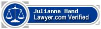 Julianne Platz Hand  Lawyer Badge
