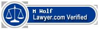 M Joanne Wolf  Lawyer Badge