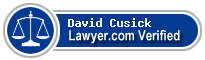 David P. Cusick  Lawyer Badge