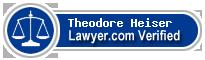 Theodore Woods Heiser  Lawyer Badge