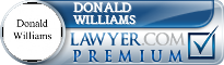 Donald Lester Williams  Lawyer Badge