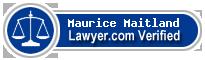 Maurice David Maitland  Lawyer Badge