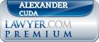 Alexander J. Cuda  Lawyer Badge