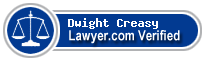 Dwight Dale Creasy  Lawyer Badge