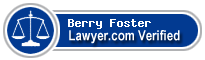 Berry Allen Foster  Lawyer Badge