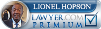 Lionel Dwain Hopson  Lawyer Badge