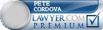 Pete Cordova  Lawyer Badge