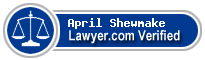 April Shewmake  Lawyer Badge