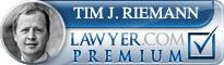 Tim J. Riemann  Lawyer Badge