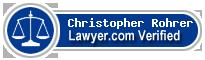 Christopher Michael Rohrer  Lawyer Badge