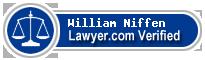 William Elmer Niffen  Lawyer Badge