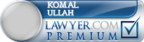 Komal Ullah  Lawyer Badge